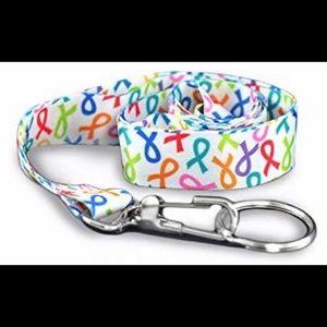 Multi Colored Ribbon Awareness Lanyard